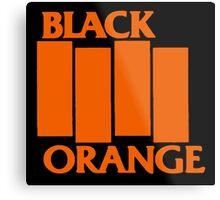 Orange & Black Flag Metal Print
