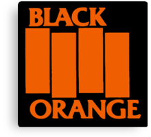 Orange & Black Flag Canvas Print