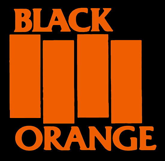 Orange & Black Flag by sflassen