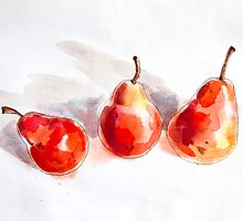 Red Pears by Aleksandra Kabakova