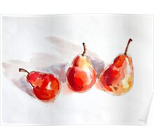 Red Pears Poster