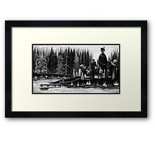 Village by the Lake Framed Print