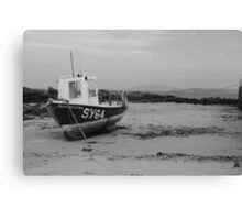 Boat on North Barra, Outer Hebrides Canvas Print