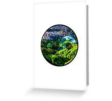Earth Yin yang Greeting Card