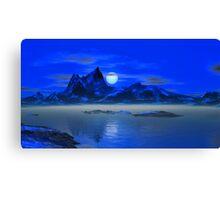 Moonrise - Blue Hills Canvas Print