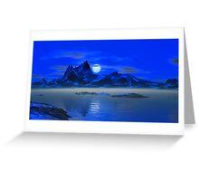 Moonrise - Blue Hills Greeting Card