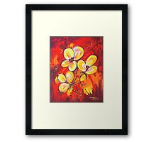 FIREY FLOWERS Framed Print