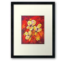 FIREY FLOWERS Framed Print