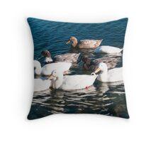 gliding geese Throw Pillow