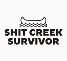 Shit Creek Survivor Black by Lauren  Boulanger