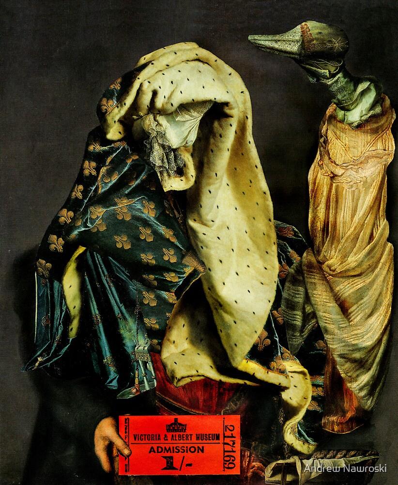 Museum Ticket Vendor with Bird of Prey. by Andreav Nawroski