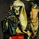 Museum Ticket Vendor with Bird of Prey. by Andy Nawroski
