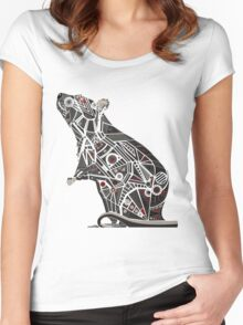 Mechanical Rat Women's Fitted Scoop T-Shirt