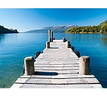 looking down the jetty Photographic Print