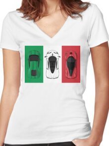 Tricolore Women's Fitted V-Neck T-Shirt