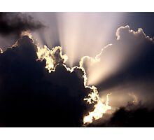 Sun Rays Before A Storm. Photographic Print