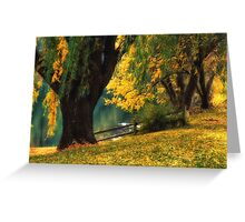Pond Willows Greeting Card