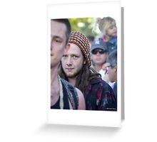 Face in a Crowd Greeting Card