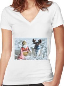 Incognito Women's Fitted V-Neck T-Shirt