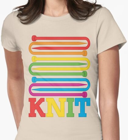 KNIT Rainbow Womens Fitted T-Shirt