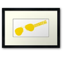 Events occur in real time Framed Print