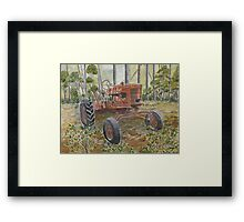 old farm tractor antique Framed Print