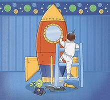 Goodnight, I'm going to my Space Rocket by Amanda Francey