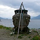 Abandoned Wooden Boat by Rachel Gagne