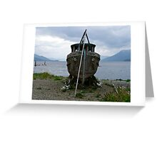 Abandoned Wooden Boat Greeting Card