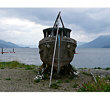 Abandoned Wooden Boat Photographic Print