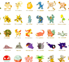 Pokemon Original 151 Sticker