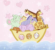 Noah's Ark (pink) by amalou