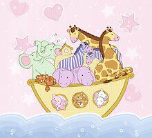 Noah's Ark (pink) by Amanda Francey