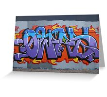 Colourful Lettering Graffiti Style Greeting Card