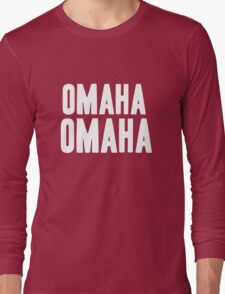 OMAHA OMAHA! (white) Long Sleeve T-Shirt