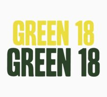 GREEN 18 - Aaron Rodgers - Green Bay Packers by tmiller9909