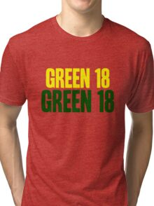 GREEN 18 - Aaron Rodgers - Green Bay Packers Tri-blend T-Shirt