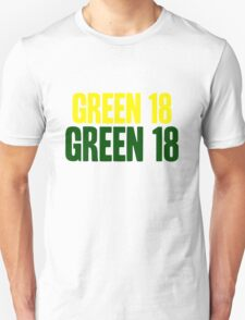 GREEN 18 - Aaron Rodgers - Green Bay Packers T-Shirt