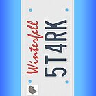 Stark License Plate by Chrisbooyahh