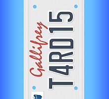 Tardis License Plate by Chrisbooyahh