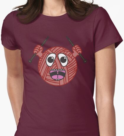 Yarnboy! - Red Womens Fitted T-Shirt