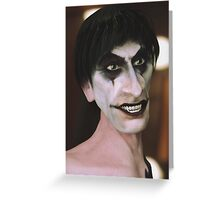 Dwayne The Goth Greeting Card