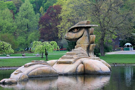 Loch Ness Monster in a Pond by Meghan1980