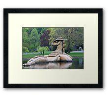 Loch Ness Monster in a Pond Framed Print