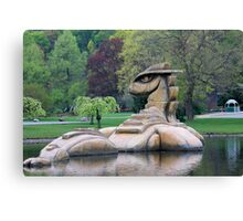Loch Ness Monster in a Pond Canvas Print