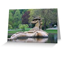 Loch Ness Monster in a Pond Greeting Card