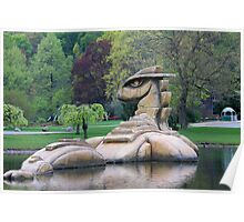 Loch Ness Monster in a Pond Poster
