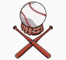 Baseball Pattern Baby Tee