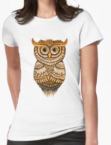 'Vintage Owlbert' Womens Fitted T-Shirt