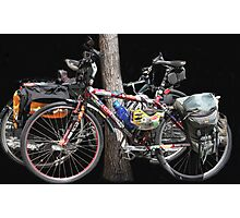 A Couple of Bicycles! Photographic Print